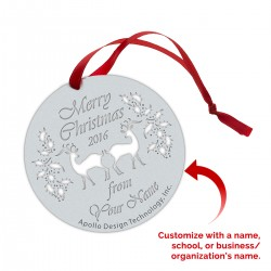 Ornament - Christmas Reindeer - Custom (Min. 25)