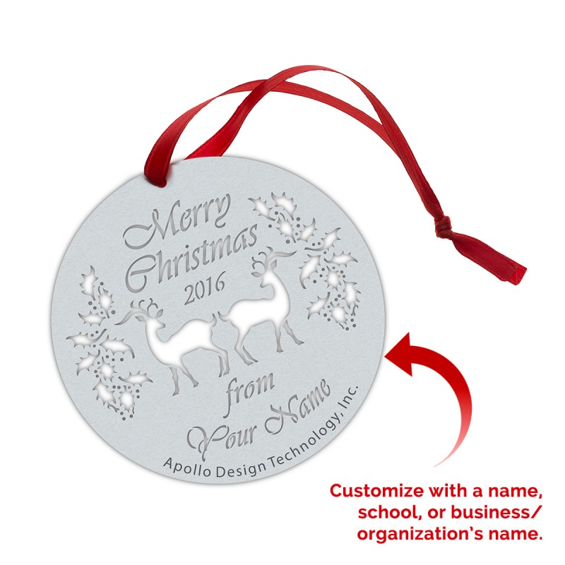 Customized Gobo Ornaments - Christmas Reindeer