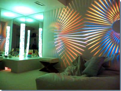 GoboPro LED projector used to display patterned gobos to elicit a sensory experience.